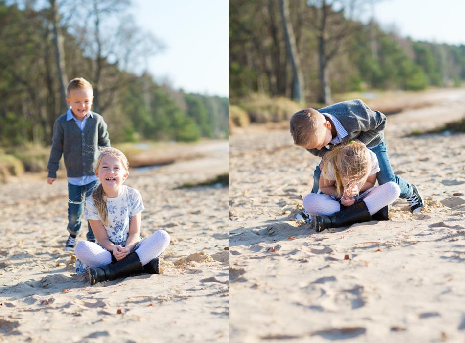familjefotografering stranden